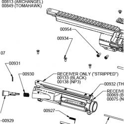 Śruby mocujące szynę do komory zamkowej 00934 (3 szt.)