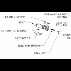 Pin wyrzutnika P308 00953