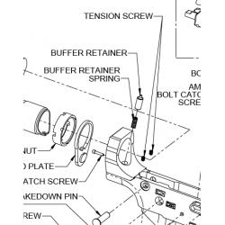 Śrubka regulacyjna nylonowa 00898 (tension screw)