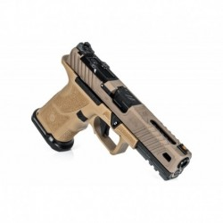 Pistolet ZEV OZ9 Covert Pistol, Standard FDE Slide, Black Barrel