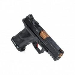 Pistolet ZEV OZ9c Pistol, Compact Black Slide, Bronze Barrel