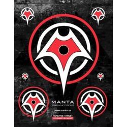 Reaktywna tarcza strzelecka Manta - Manta Reactive Target komplet 10 sztuk