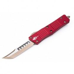 Nóż Microtech 619-13RDS Troodon Hellhound - Red Handle - Bronze Blade