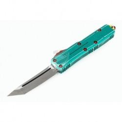 Nóż Microtech 233-10BH UTX-85 T/E - Bounty Hunter - Green Handle - Apocalyptic Blade