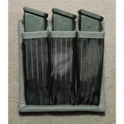 Pokrowiec na mały pistolet - Gun Safe Modular 3 Magazine Holder Magnetic Black