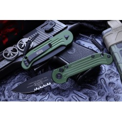 "Nóż Microtech 135-2OD LUDT AUTO 3.375"" Black Serrated Blade, OD Handles - dostawa MARZEC 2021"