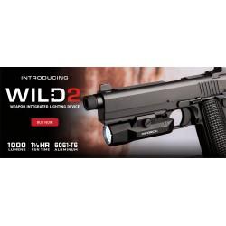 Latarka na pistolet INFORCE WILD 2 Black Body white LED