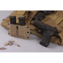Kabura na magazynki pistoletowe (podwójna, czarna) HTC