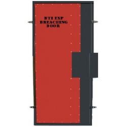 Treningowe drzwi wyważeniowe - ładunek wybuchowy