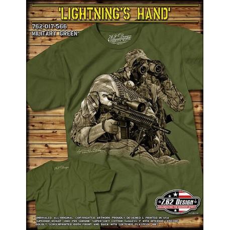 Koszulka 7.62 Design LIGTHNING HANDS seria Grafitowa
