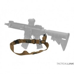 Pas do broni Tactical link 1/2 punktowy (czarny)